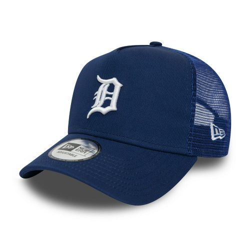 NEW ERA DETROIT TIGERS BASEBALL CAP.9FORTY MLB A FRAME ESSENTIAL TRUCKER HAT 9S2